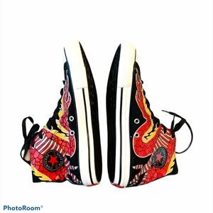 Converse Dragon Sneakers High Top Black Red